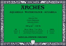 Arches Watercolor Blocks, Cold-Pressed, 140lb, 7 in. x 10 in.