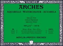 Arches Watercolor Blocks, Cold-Pressed, 140lb, 9 in. x 12 in.