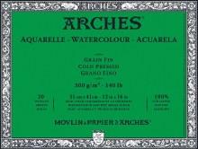 Arches Watercolor Blocks, Cold-Pressed, 140lb, 12 in. x 16 in.