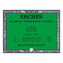 Arches Watercolor Blocks, Cold-Pressed, 140lb, 18 in. x 24 in.