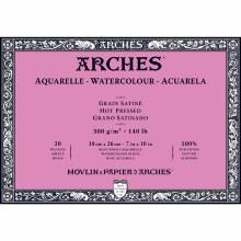 Arches Watercolor Blocks, Hot-Pressed, 140lb, 7 in. x 10in.
