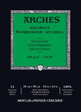 Arches Watercolor Pads, Cold-Pressed, 140lb, 10 in. x 14 in.