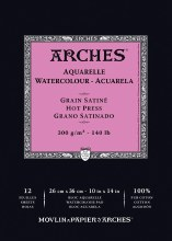 Arches Watercolor Pads, Hot-Pressed, 140lb, 10in. x 14 in.