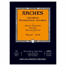 Arches Watercolor Pads, Rough, 140lb, 9in. x 12 in.