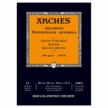 Arches Watercolor Pads, Rough, 140lb, 10in. x 14 in.