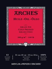 Arches Oil Paper Pads, Cold-Pressed, 140lb, 12 in. x 16in.