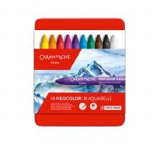 Neocolor II Oil Pastels, 10-Color Set