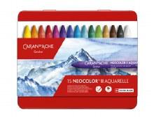 Neocolor II Oil Pastels, 15-Color Set