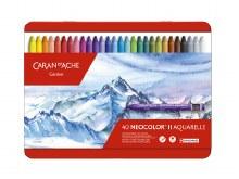 Neocolor II Oil Pastels, 40-Color Set