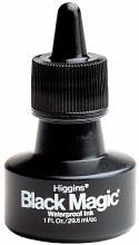 Higgins Waterproof Black Magic Ink, Higgins Black Magic Ink - 1 oz. Bottle