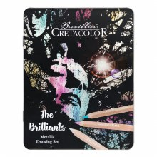 Cretacolor The Brilliants Metallic Drawing 12-Set