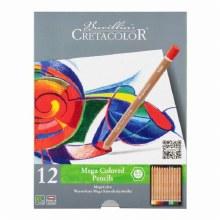 Cretacolor Mega Color Pencils 12-Set