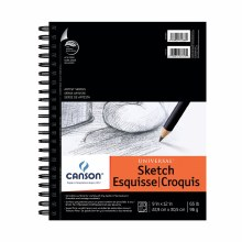 Canson Universal Heavy-Weight Sketch Pads, Side-Spiral, 9 in. x 12 in.