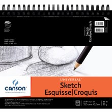 Canson Universal Heavy-Weight Sketch Pads, Side-Spiral, 14 in. x 17 in.