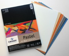 Canson Mi-Teintes Paper Pads, Assorted Colors - 9 in. x 12 in. - 24 Shts./Pad