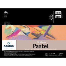 Canson Mi-Teintes Paper Pads, Assorted Colors - 12 in. x 16 in. - 24 Shts./Pad