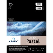 Canson Mi-Teintes Paper Pads, Black - 9 in. x 12 in. - 24 Shts./Pad