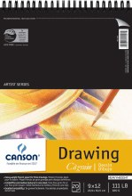 Canson Drawing Pads, White, 9 in. x 12 in. - 20 Shts./Pad 111 lb. (180 gsm)