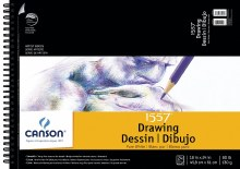 Canson Drawing Pads, White, 18 in. x 24 in. - 20 Shts./Pad 111 lb. (180 gsm)