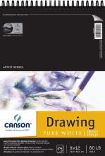 Canson Drawing Pads, Pure White, 9 in. x 12 in. - 24 Shts./Pad