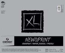 Canson XL Newsprint Paper Pads, Biggie 100/125 Sheet Pads, 14 in. x 17 in.