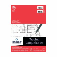 Canson Tracing Pads, 9 in. x 12 in. - 25 lb. 50 Shts./Pad