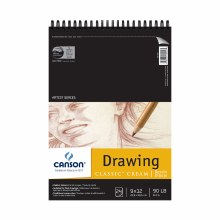 Canson Drawing Pads, Cream, 9 in. x 12 in. - 24 Shts./Pad