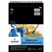 Canson Montval Watercolor Pads, Top Spiral-Bound Pads (12 Sheets), 9 in. x 12 in.