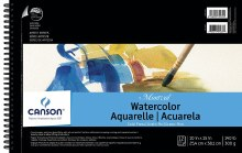 Canson Montval Watercolor Pads, Top Spiral-Bound Pads (12 Sheets), 10 in. x 15 in.