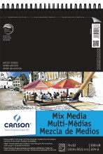 Canson Mix Media Pads, 9 in. x 12 in. - 20 Shts./Pad