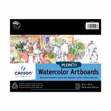 Canson Plein Air Watercolor Artboard Pads, 8 in. x 10 in. - 10 Shts./Pad