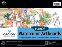 Canson Plein Air Watercolor Artboard Pads, 9 in. x 12 in. - 10 Shts./Pad