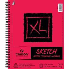 Canson XL Sketch Pads, 9 in. x 12 in. - Side Wire Bound
