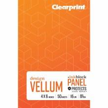 Vellum Books, Plain, 4 in. x 6 in. - Plain, 50 Shts./Pad