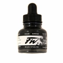FW Acrylic Artists Ink, Black India
