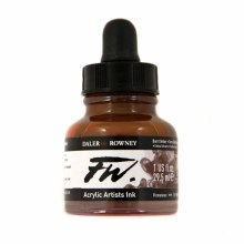 FW Acrylic Artists Ink, Burnt Umber