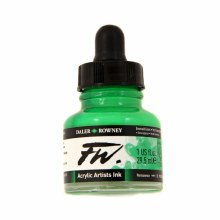 FW Acrylic Artists Ink, Emerald Green