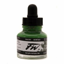 FW Acrylic Artists Ink, Olive Green