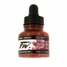 FW Acrylic Artists Ink, Red Earth