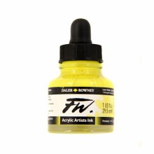 FW Acrylic Artists Ink, Lemon Yellow