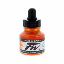 FW Acrylic Artists Ink, Flame Orange
