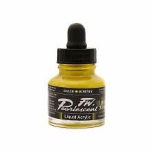 FW Pearlescent Liquid Acrylics, Hot Cool Yellow