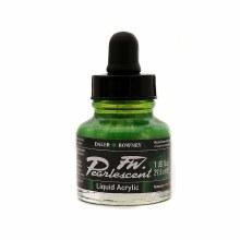 FW Pearlescent Liquid Acrylics, Macaw Green