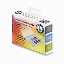 Extra Fine Watercolor Half Pan Sets, 6-Color Half Pan Set Colors of Inspiration