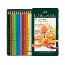 Polychromos Artist Colored Pencil Sets, 12-Pencil Tin Set