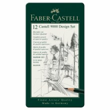 Castell 9000 Pencil Sets, 12-Pencil Design Set