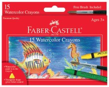 Watercolor Crayon Set, 16 Pieces