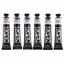 OPEN Acrylic Traditional Color Set, Six 22 ml Tubes