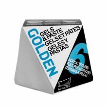 Acrylic 6 Gels & Molding Pastes Set, Six 2 oz. Jars