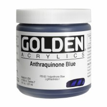 Golden Heavy Body Acrylics, 8 oz, Anthraquinone Blue
